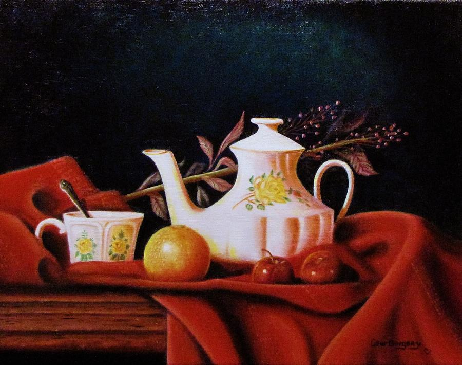 Little Tea Pot Painting  - Little Tea Pot Fine Art Print