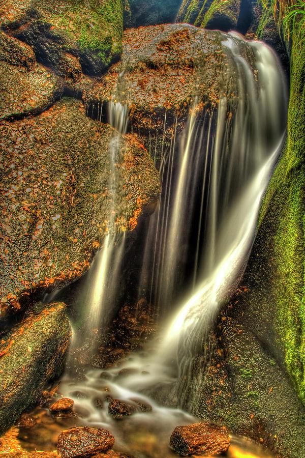 Little Waterfall At Burn O Vat Photograph