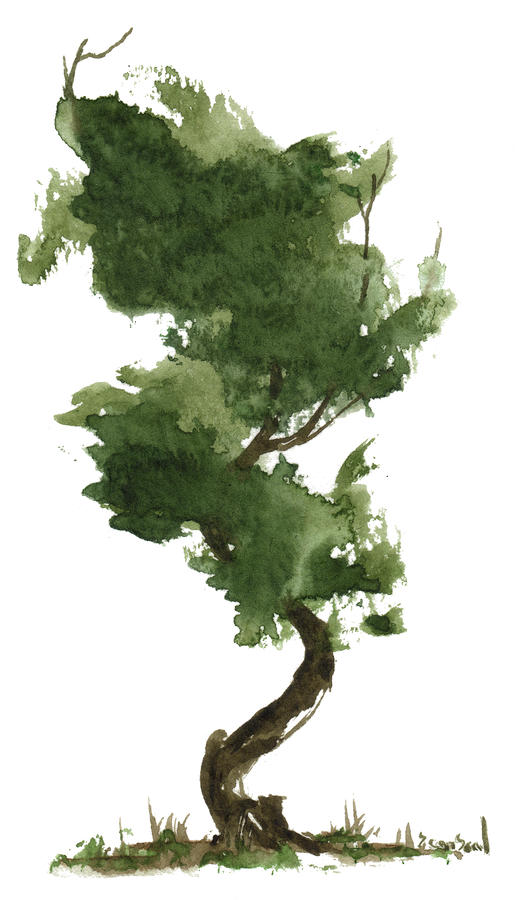 Little Zen Tree 153 Painting  - Little Zen Tree 153 Fine Art Print