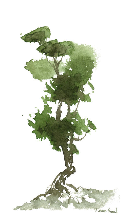 Little Zen Tree 186 Painting  - Little Zen Tree 186 Fine Art Print