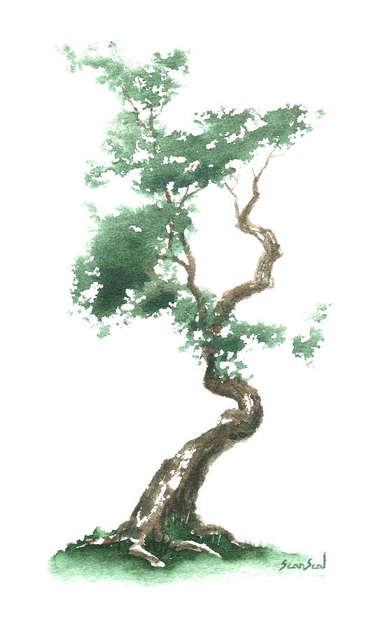 Little Zen Tree 612 Painting  - Little Zen Tree 612 Fine Art Print