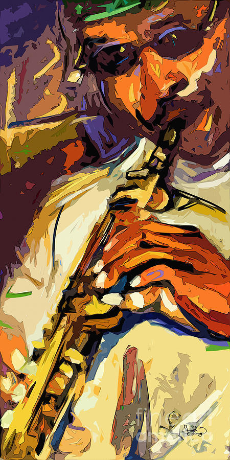 Live Horn Session #1 Painting  - Live Horn Session #1 Fine Art Print