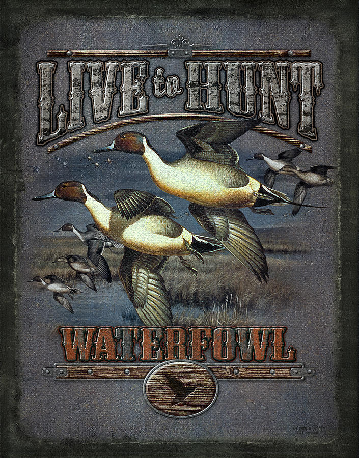 Live To Hunt Pintails Painting  - Live To Hunt Pintails Fine Art Print