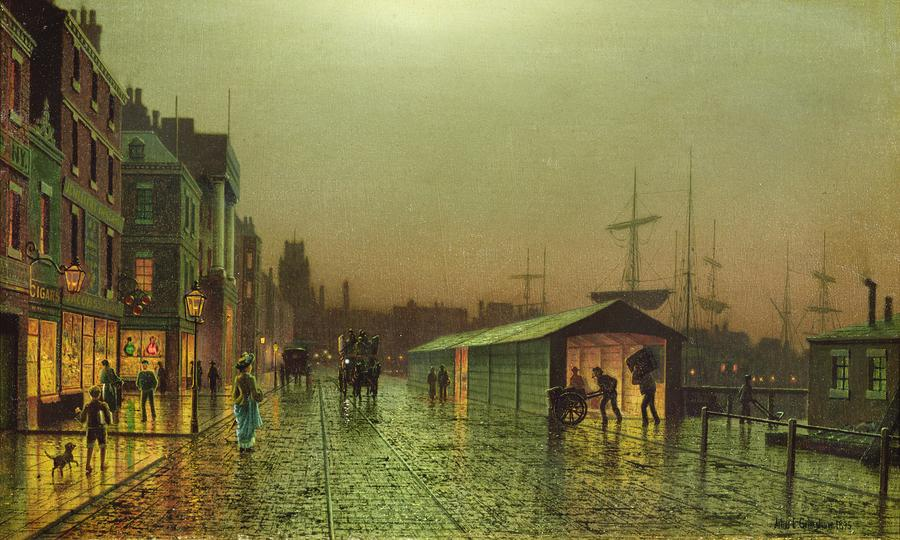 Liverpool Docks Painting