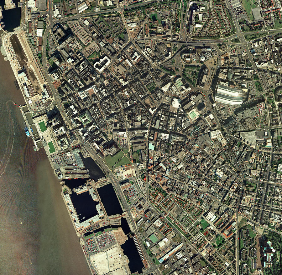 Liverpool, Uk, Aerial Image Photograph