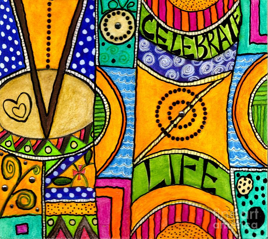 Living A Vibrant Life Mixed Media