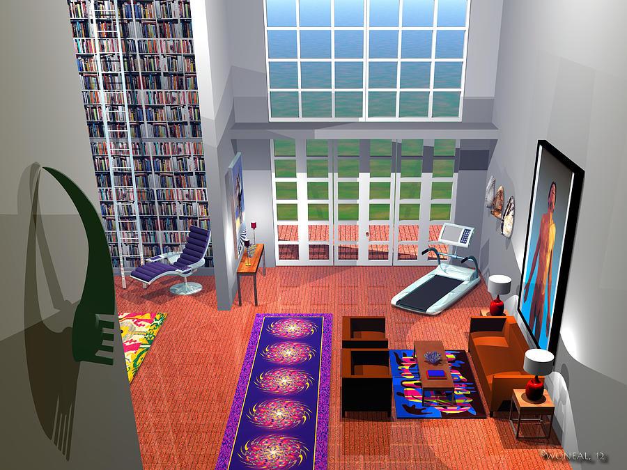 Living Space 1 Digital Art
