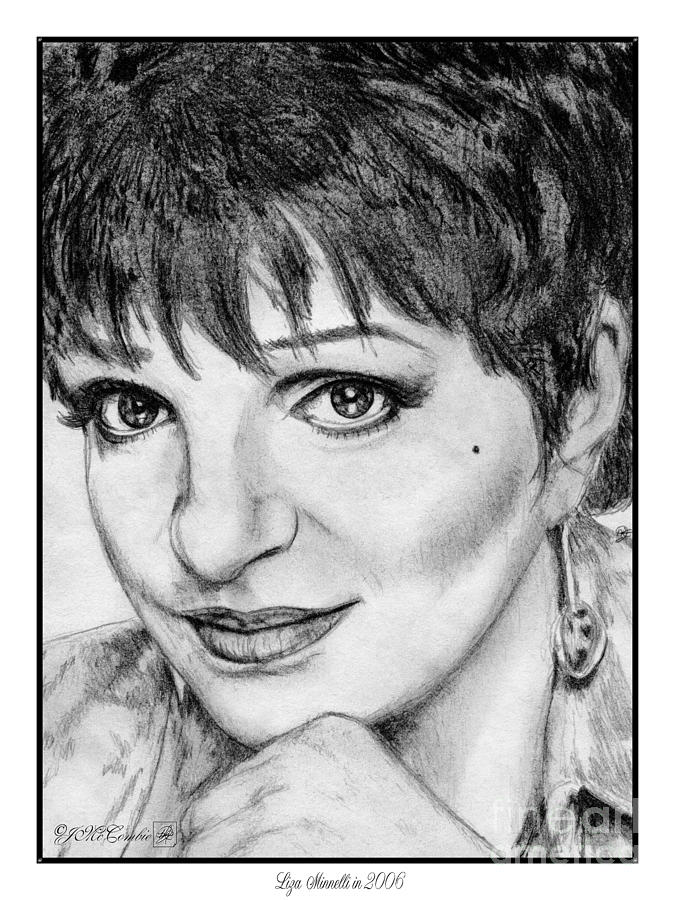 Liza Minnelli In 2006 Drawing  - Liza Minnelli In 2006 Fine Art Print