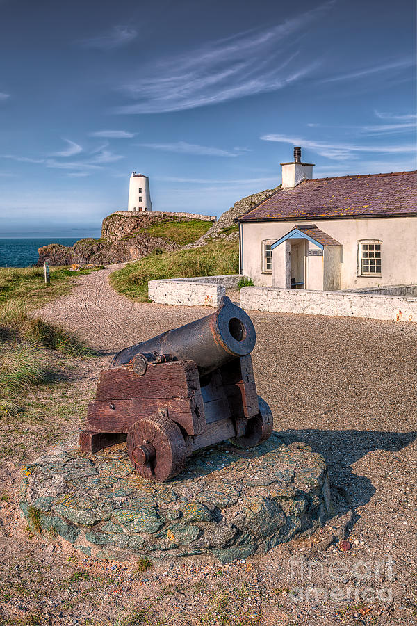 Anglesey Photograph - Llanddwyn Cannon by Adrian Evans