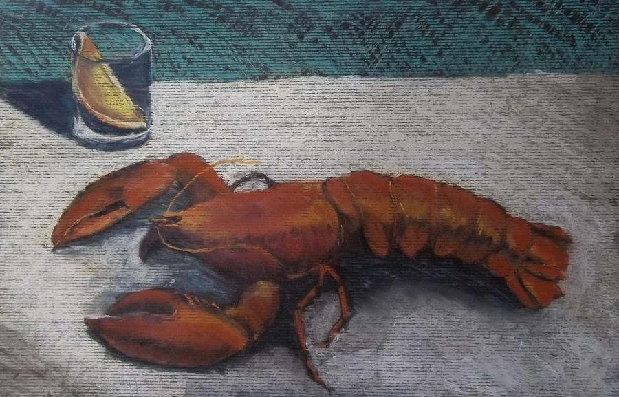 Lobster Exercise Painting  - Lobster Exercise Fine Art Print