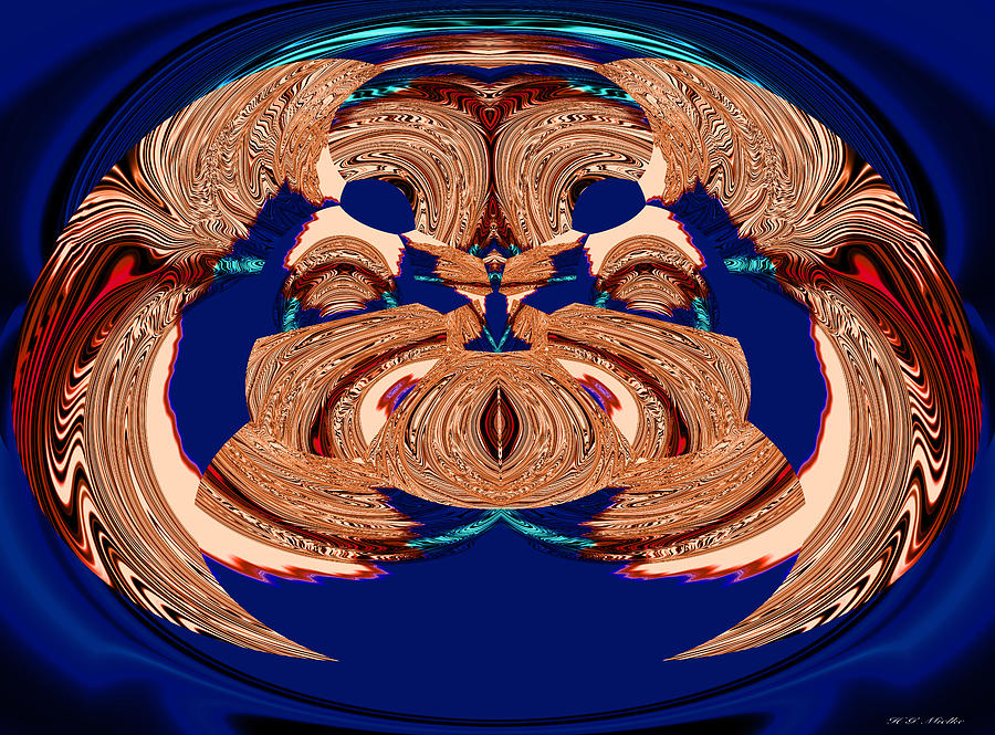 Lobster King Abstract Digital Art 1 Painting