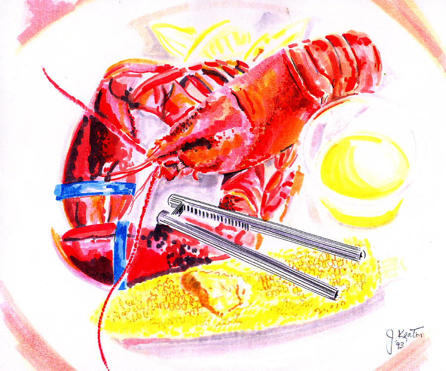 Lobster Platter Drawing