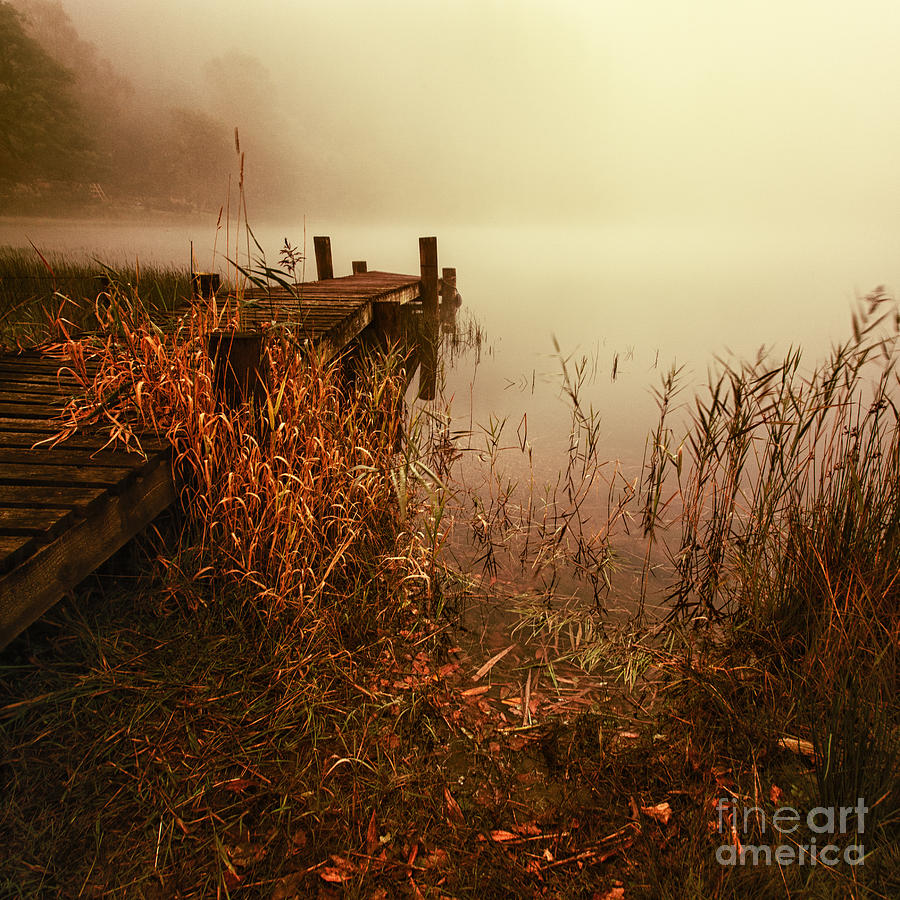 Color Image Photograph - Loch Ard Early Mist  by John Farnan