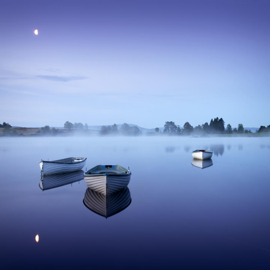 Loch Rusky Moonlit Morning Photograph  - Loch Rusky Moonlit Morning Fine Art Print