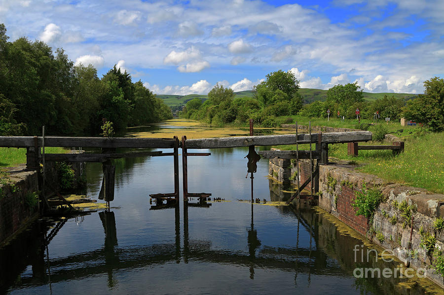 Lock Gates On The Old Canal Photograph