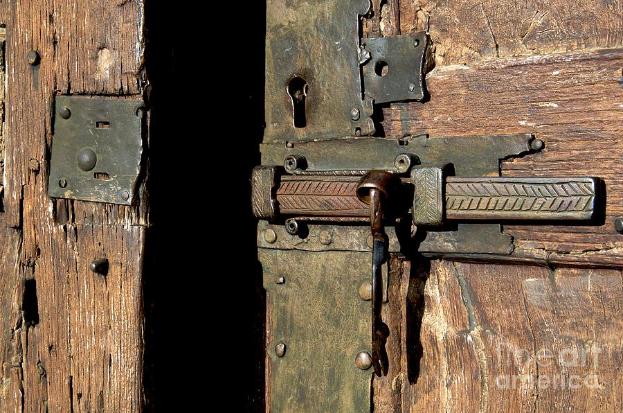 Art Roman Photograph - Lock Of Church. France by Bernard Jaubert