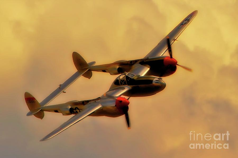Lockheed P-38 Lightning 2011 Chino Air Show Photograph  - Lockheed P-38 Lightning 2011 Chino Air Show Fine Art Print