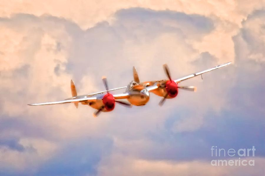 Lockheed P-38 Lightning honey Bunny Photograph  - Lockheed P-38 Lightning honey Bunny Fine Art Print