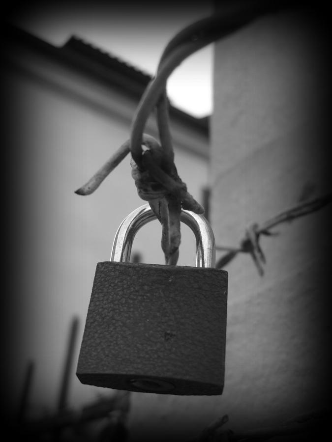 Locking Love Photograph  - Locking Love Fine Art Print