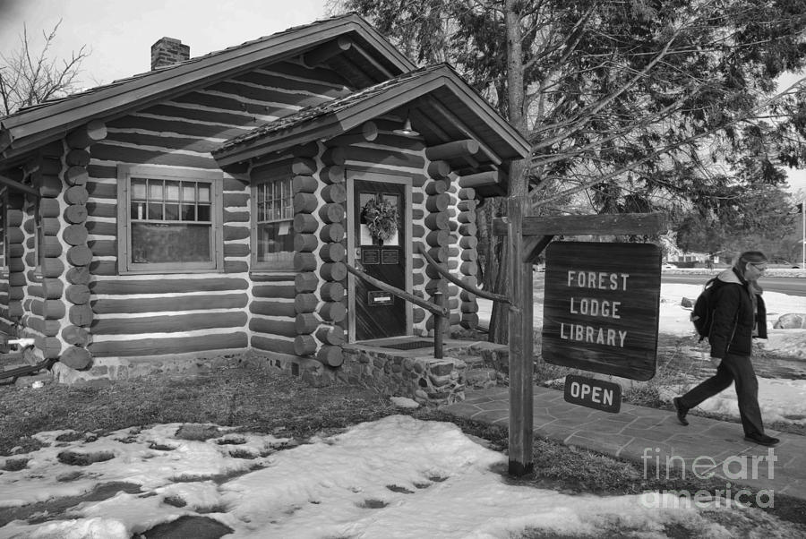 Library Photograph - Log Cabin Library 11 by Jim Wright