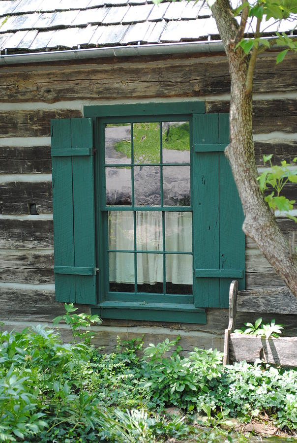 Log Cabin Window By Jost Houk