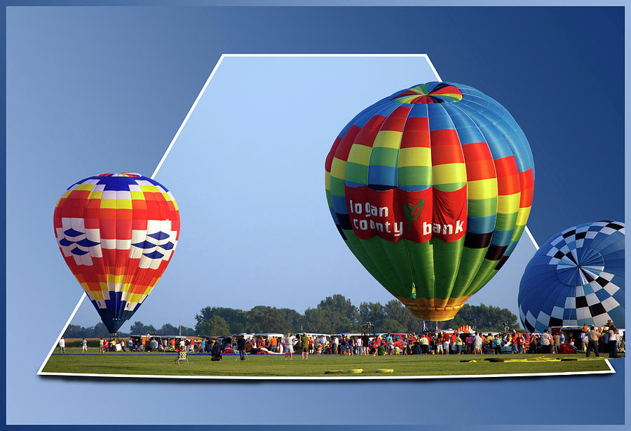 Out Of Bounds Photograph - Logan County Bank Balloon 05 by Thomas Woolworth