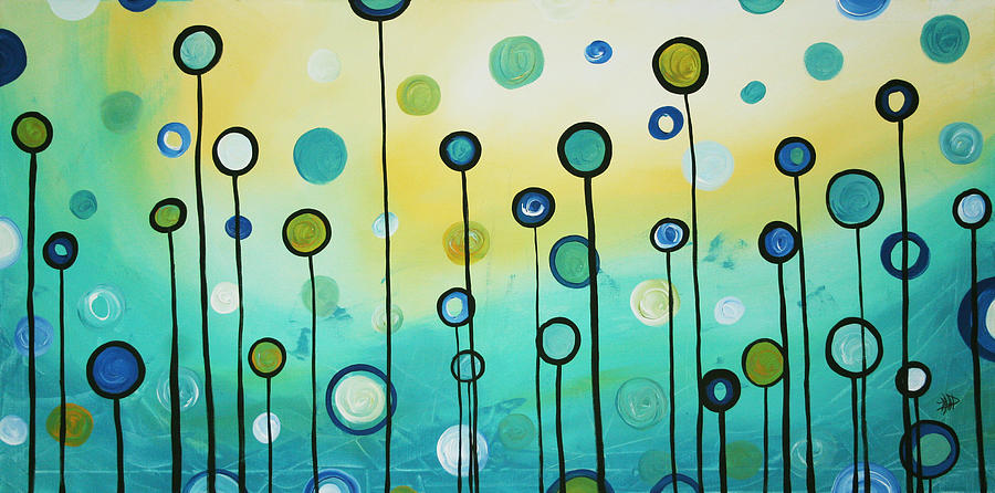 Lollipop Field By Madart Painting  - Lollipop Field By Madart Fine Art Print