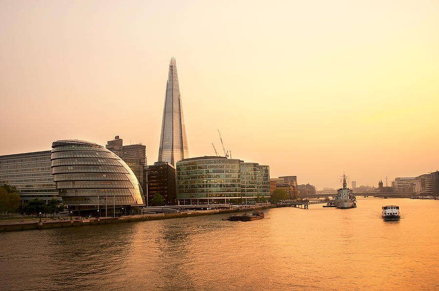 Architecture Photograph - London At Dusk by Svetlana Sewell
