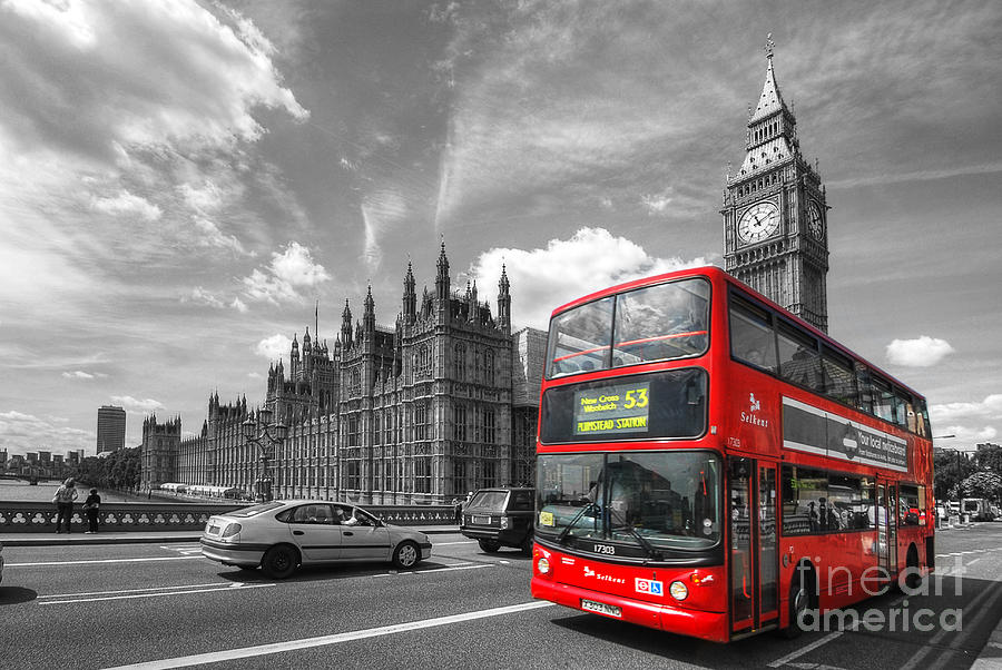 London Big Ben And Red Bus is a photograph by Yhun Suarez which was ...