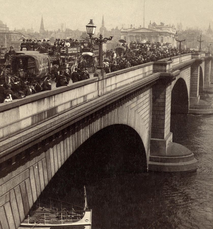London Bridge - England - C 1896 Photograph  - London Bridge - England - C 1896 Fine Art Print