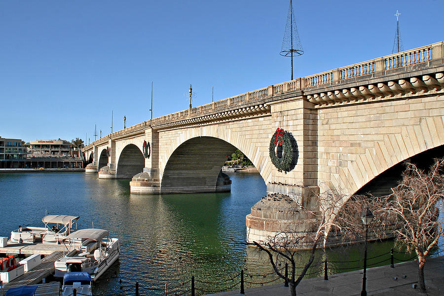 Lake Havasu Photograph - London Bridge Lake Havasu City - The Worlds Largest Antique by Christine Till