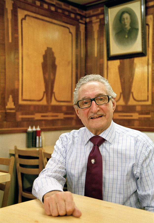 London Cafe Owner Photograph