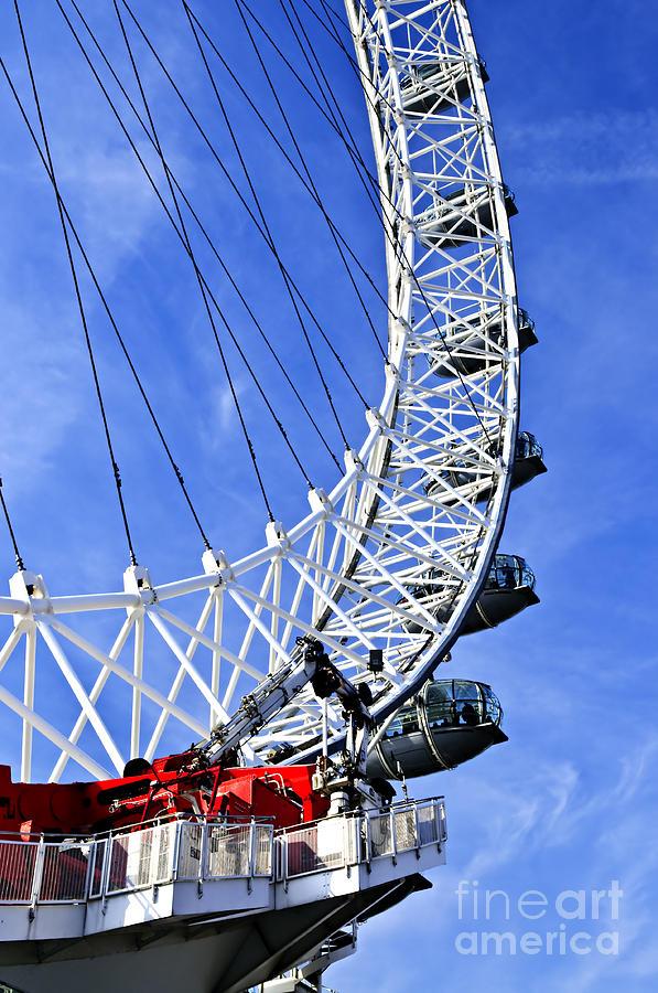 London Photograph - London Eye by Elena Elisseeva