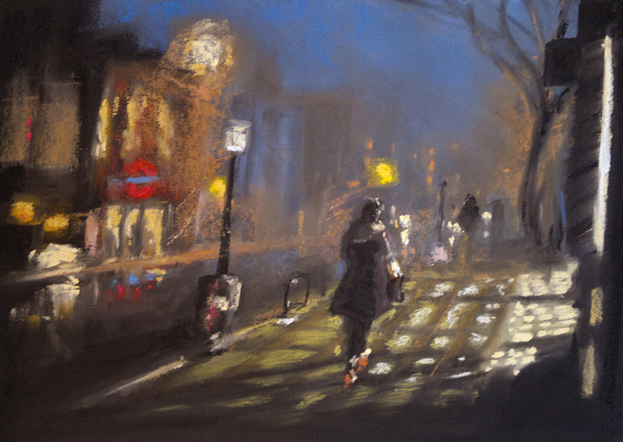 London Fog 2 Pastel  - London Fog 2 Fine Art Print