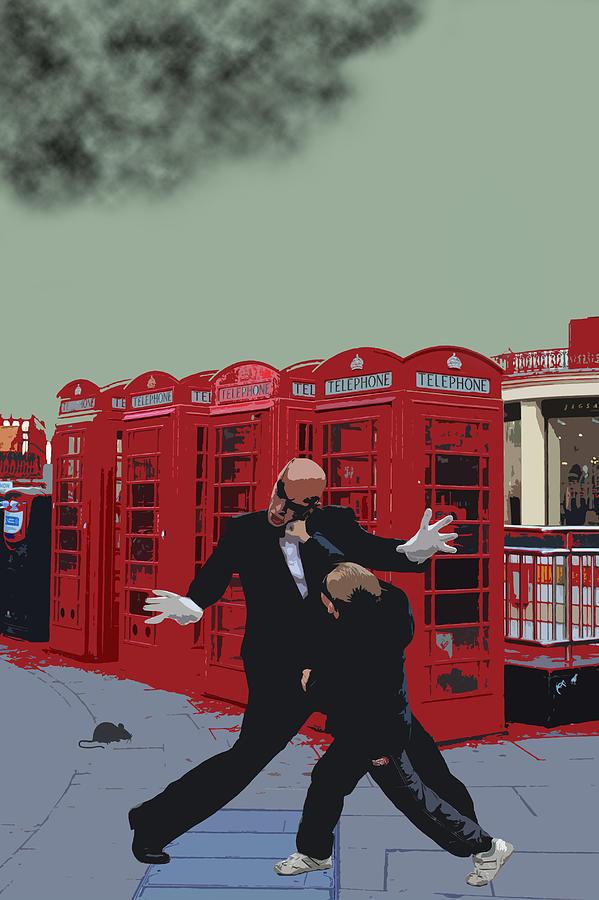 Matrix Photograph - London Matrix Punching Mr Smith by Jasna Buncic