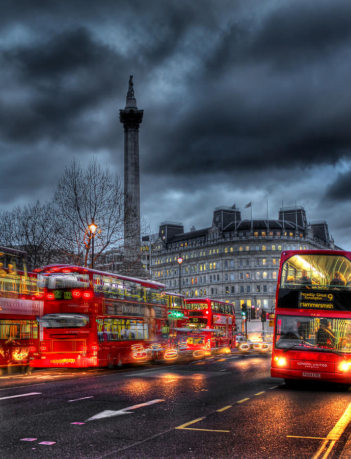 London Red Buses Photograph  - London Red Buses Fine Art Print