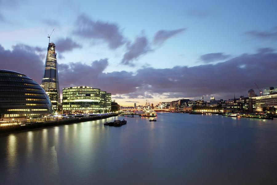 Horizontal Photograph - London Skyline At Sunset by Richard Newstead