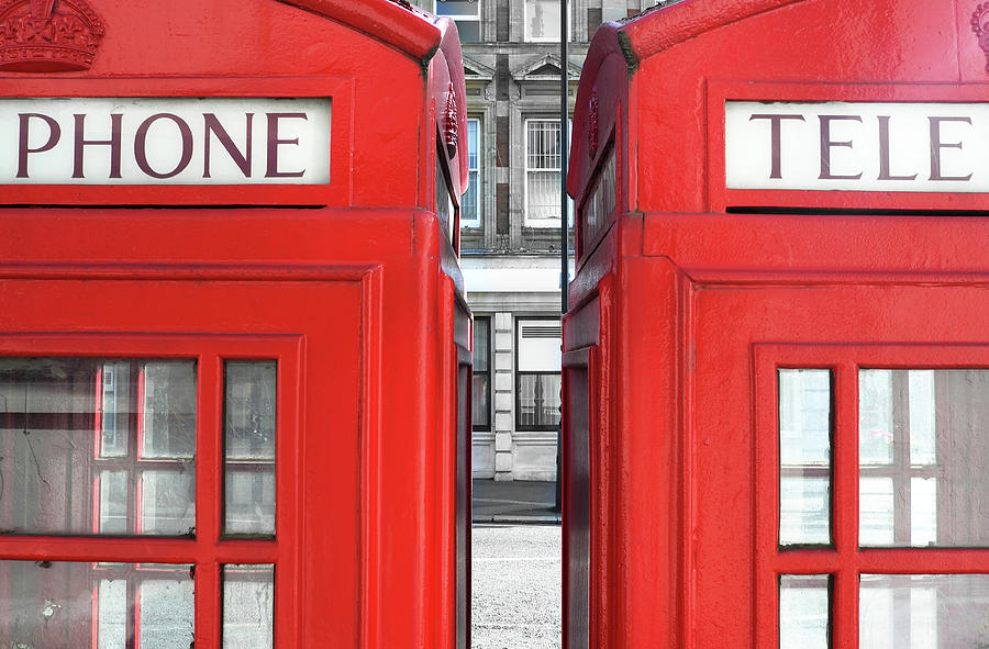 London Telephones Photograph  - London Telephones Fine Art Print