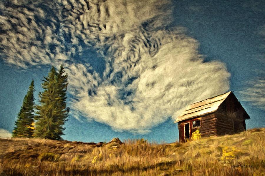 Cabin Painting - Lone Cabin by Jeff Kolker