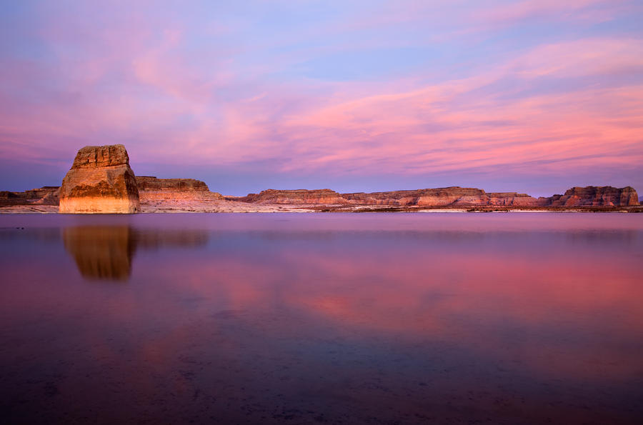 Lone Rock Sunset Photograph  - Lone Rock Sunset Fine Art Print