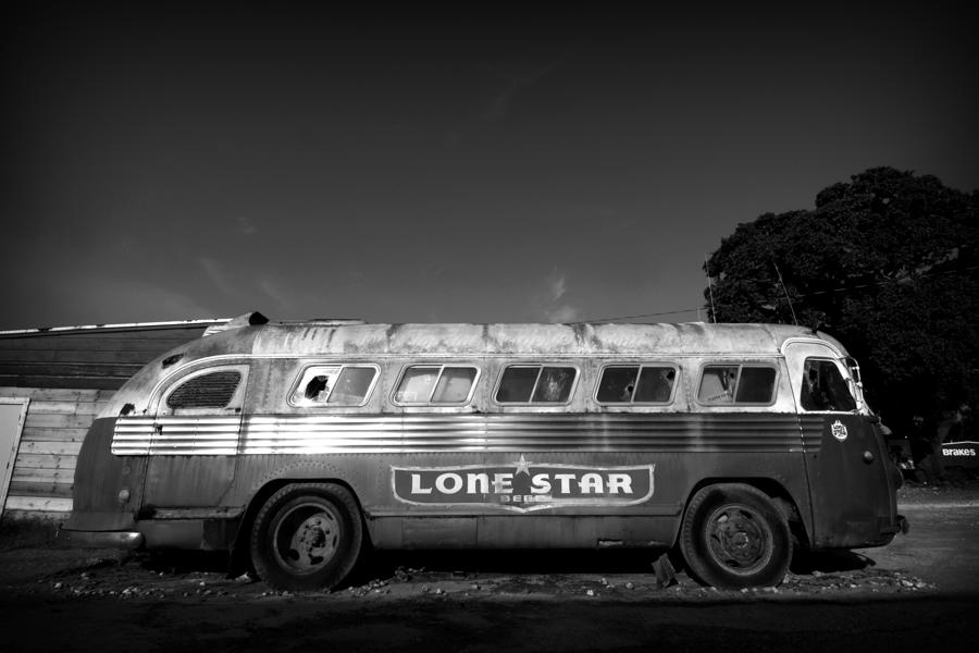 Lone Star Bus 1 Photograph  - Lone Star Bus 1 Fine Art Print