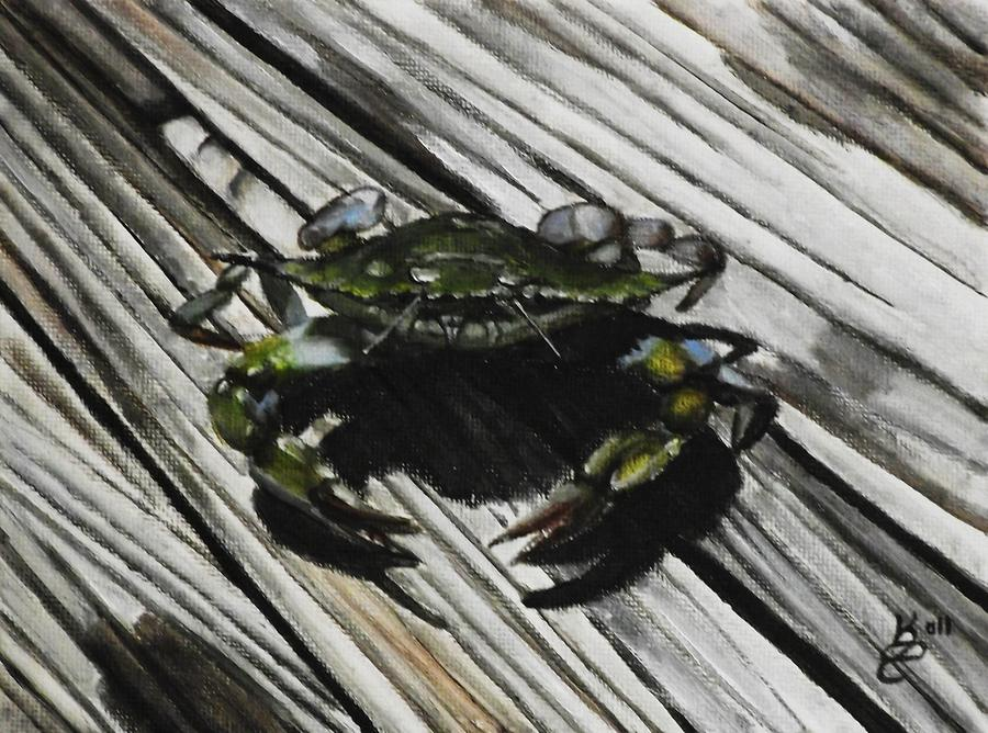 Acrylic Painting Painting - Lonely Crab by Kim Selig