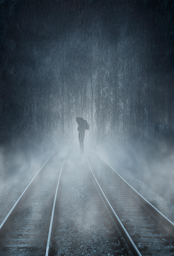 Lonely Figure Digital Art