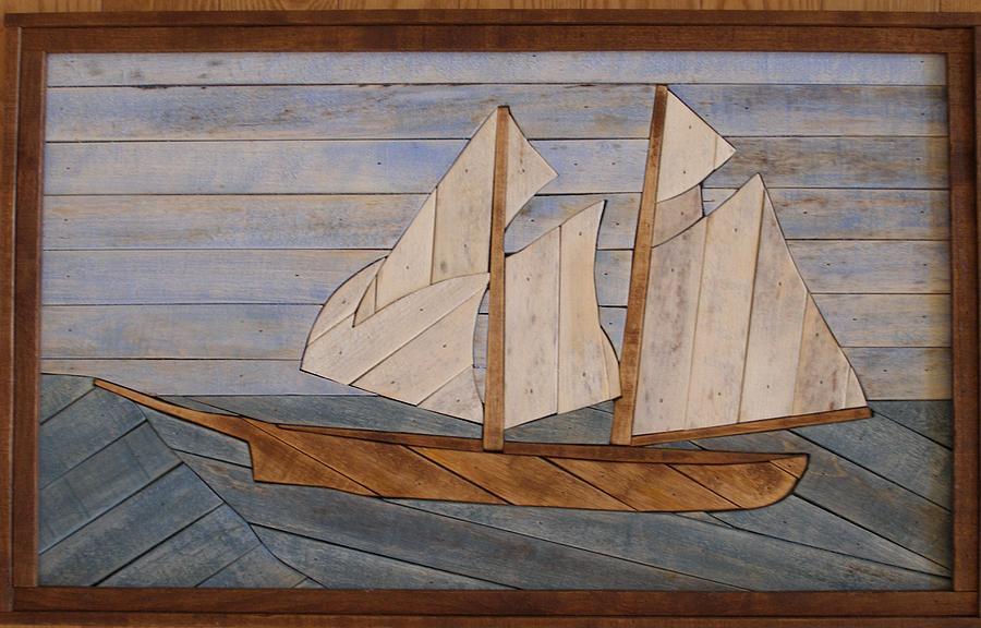 Long Boat Lathart Mixed Media
