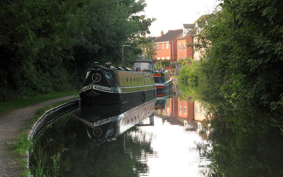 Long Boat On The Channel In England Photograph