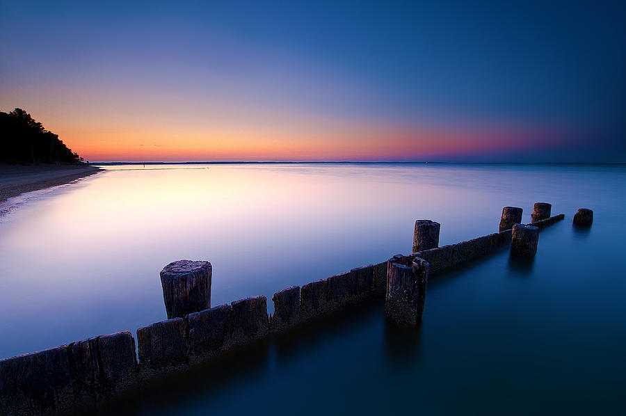 Long Exposed Jetty Photograph