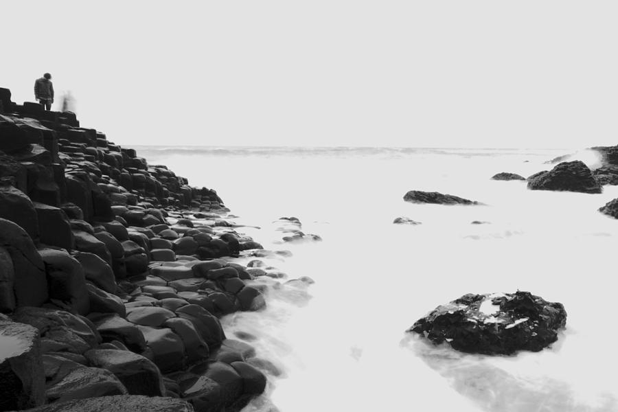 Long Exposure At The Giants Causeway Photograph