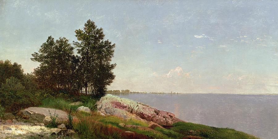 Long Island Sound At Darien Painting