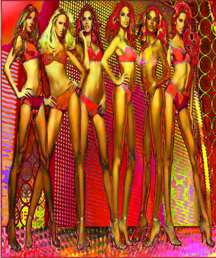 Long Legged Blonds And Redheads Digital Art