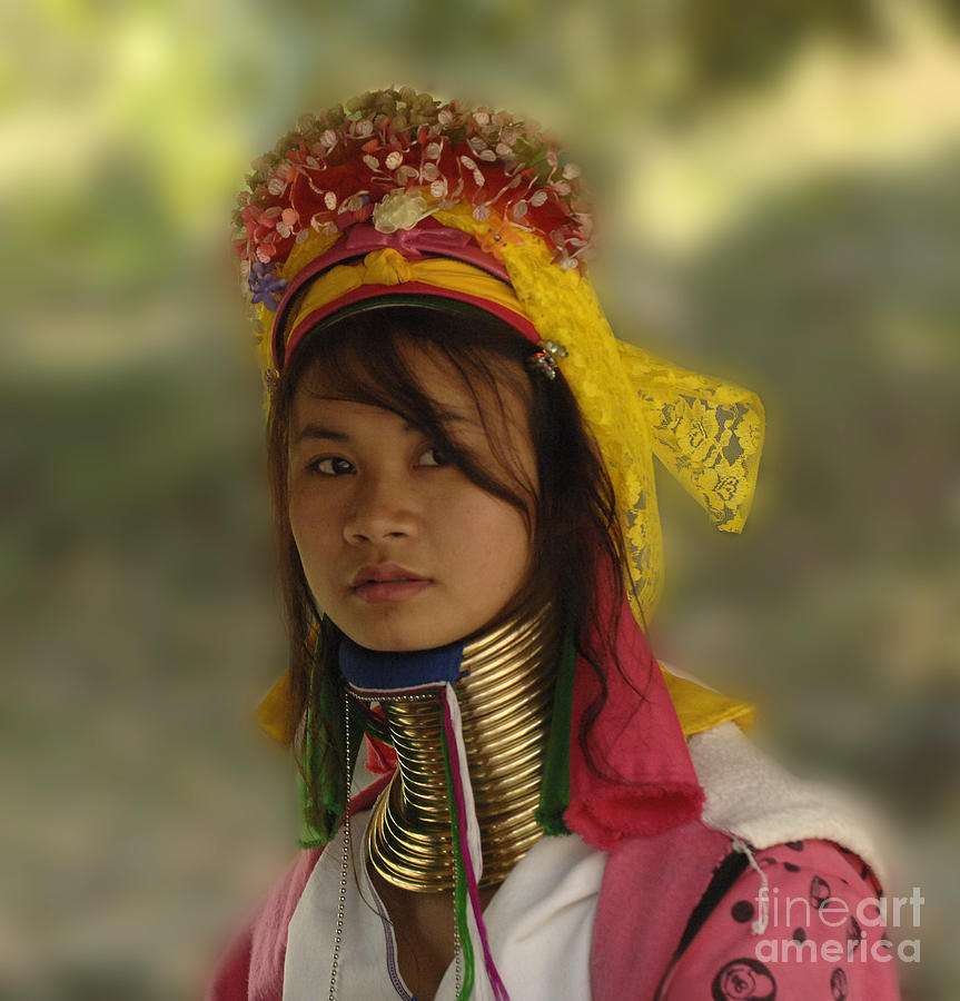 Long Neck Beauty Karen Tribe Photograph  - Long Neck Beauty Karen Tribe Fine Art Print